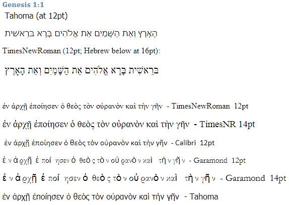 Greek and Hebrew in Google Docs and Windows Live SkyDrive